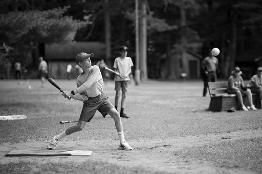Red Arrow Camp Competitions Baseball Swing